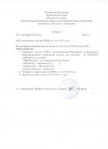 Приказ на утверждение состава ПМПК 18-19